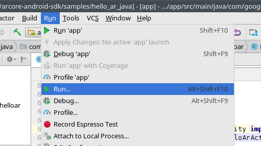Arcore Android Git